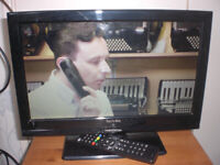 'TECHNIKA' 16in freeview with DVD built in. has HDMI, can deliver £25