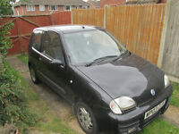 Fiat Seicento 1108 2003 Black breaking, sought after parts
