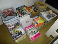 MOTORCYCLE MAGAZINES FROM 1961 TO 2016 FOR SALE.