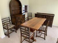 Dining room furniture table dresser sideboard oak