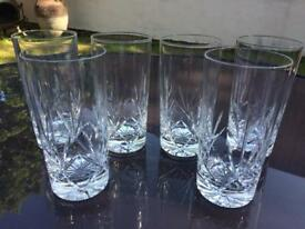 Cut Crystal tall drinking glasses