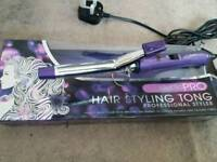 Hair styling tongs