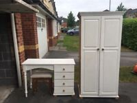 Pine wardrobe and dressing table can deliver