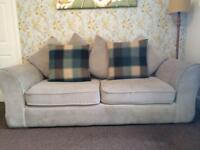 Oak furniture land Clarissa onyx sofa 3 and 2 seater excellent condition £600