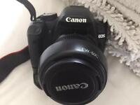Canon 500d with 18-55mm Lens, battery grip and accessories