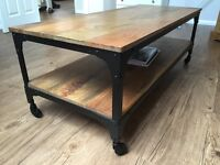 GORGEOUS INDUSTRIAL COFFEE TABLE