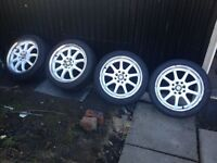 "Genuine Work Alloy Wheels 4x100 16"" 7j Quality Alloys Golf Mx5 Polo Many More"