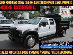 2008 Ford F-550 4X4 DOMPEUR 1 SEUL PROPRIO BOITE 4 SAISON