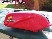 honda cb250rs red fuel tank