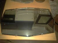 1920s/30s Art Deco frameless mirror with bevelled edge