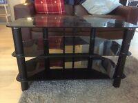 Great condition large 3 tiered black TV Stand
