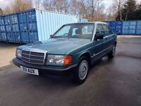1988 MERCEDES-BENZ 190 2.0E W201 AUTOMATIC 90K MILES 12 MTH MOT 3 OWNERS MINT MODERN CLASSIC
