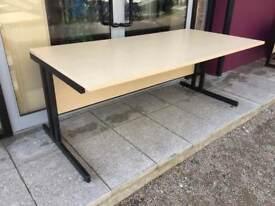 1.8m straight ash office/workshop desk