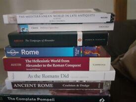 history archaeology book bundle rome pompeii etc