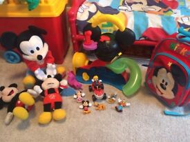 mickey mouse bundle backpack toys figures