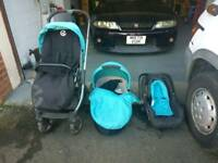 Oyster 2 pram package 3 parts - pushchair