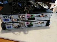 Two - Sky HD Boxes and Remotes with power cables. Working Order .