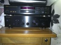 pioneer a20 amp , denon dvd-1500 ,and tall tibo audio speakers for sale