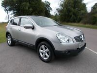 2008 58 NISSAN QASHQAI ACENTA 4X4 AUTOMATIC 5 DOOR SUV IN METALLIC SILVER CALL 07791629657