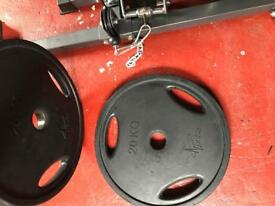Pair of 20kg Olympic Pulse Fitness Plates