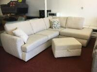 Dfs trilogy corner with delux bed sofa & footstool