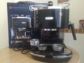 DeLonghi black Icona espresso cappuccino maker