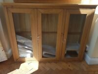 Oak Display Cabinet (Brand new)