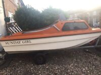 CJR 14ft Fishing/day boat