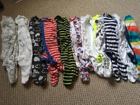 Baby Boys Next sleepsuits 0-3 months