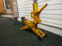 Forklift jack and axle stands