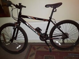 "Gents / youths Apollo Mentor bike 17""frame .22"" wheels .18 gears"