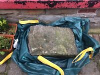 Large stone 60cm x 40cm x 30cm. For wall, rockery, garden perch etc.
