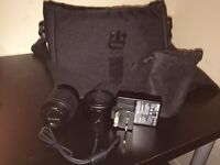 Original Nikon Messenger camera shoulder bag + Nikon AF-S 55-200MM Lens +Nikon MH-23 Charger