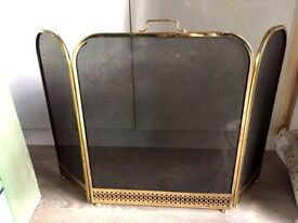 GOLD WITH BLACK MESH FIRE GUARD