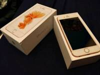 *Apple iPhone 6S rose gold 64gb, UNLOMCKED boxed charger fully working