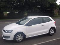 White Volkswagen Polo 3 door 1.2 S Petrol July 2010 - LOW MILEAGE, immaculate condition inside & out