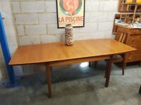 Teak Mid Century Retro Extending Table
