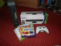 Xbox 360, Kinnect and 5 Games