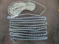 10mm Anchor chain spliced to 16mm warp