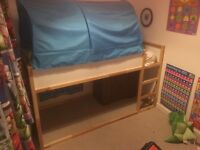 Kids ikea reversible bed and tent