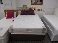 Malvern Double Divan bed base and mattress. High quality mattress and bed base, Divan in 2 pieces