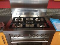 Bosch oven with 5 ring gas hob and extractor hood