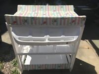 Baby changing/bathing station and big bundle of baby boy clothes
