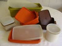 Vintage Tupperware - including Cake Stand and assorted storage boxes
