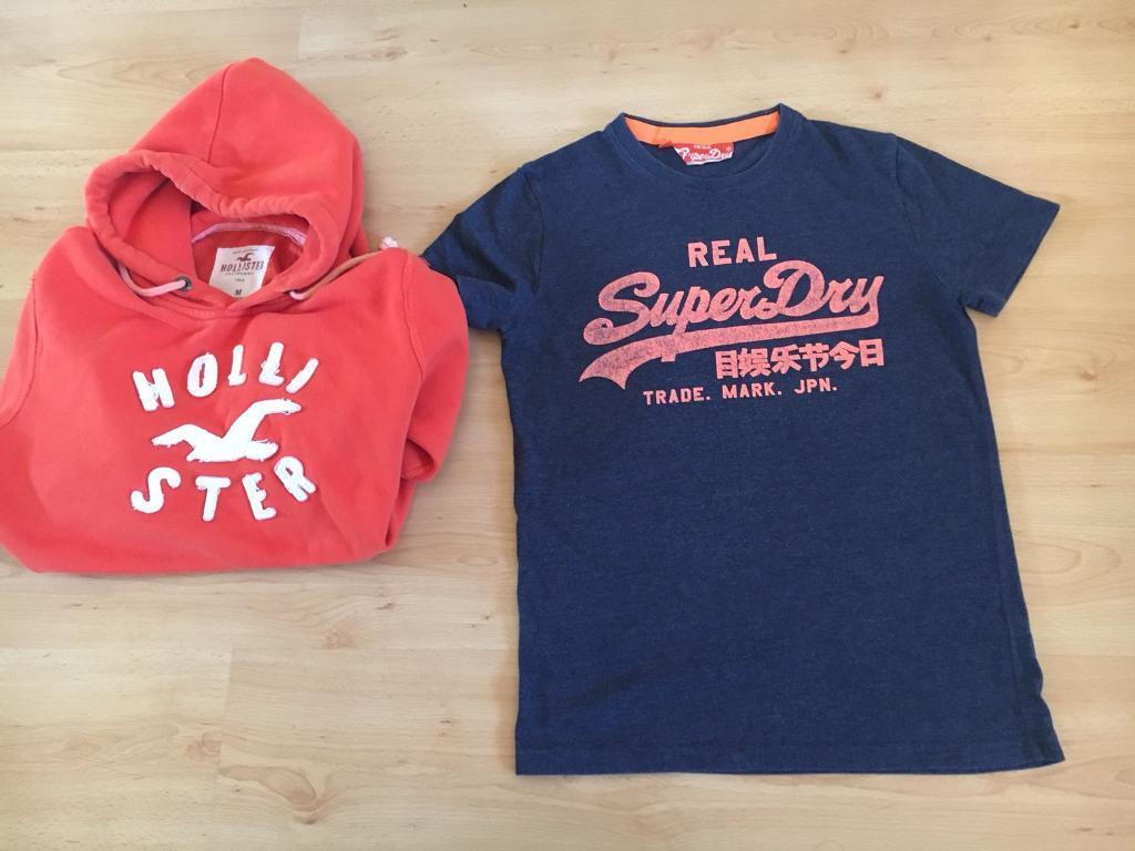 Holister hoodie & superdry t/shirt