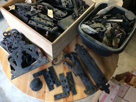 Cast iron door/window furniture job lot
