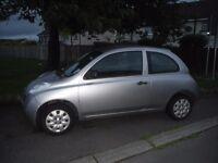Nissan Micra 2004 Silver - MOT to April - Cheap First Car 1.2 / 1200cc Petrol