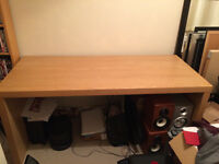 Oak Veneer Jonas Office Desk with optional pull out panel