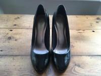 Black patent stilettos - M&S