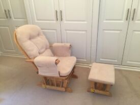 Nursing chair and footstool - rocking and reclining